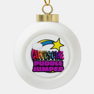 Shooting Star Rainbow Awesome Puddle Jumper Ornaments