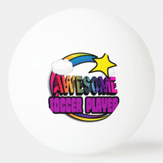 Shooting Star Rainbow Awesome Soccer Player Ping Pong Ball