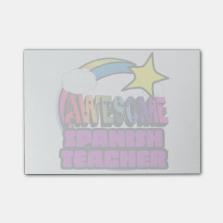 Shooting Star Rainbow Awesome Spanish Teacher Post-it® Notes