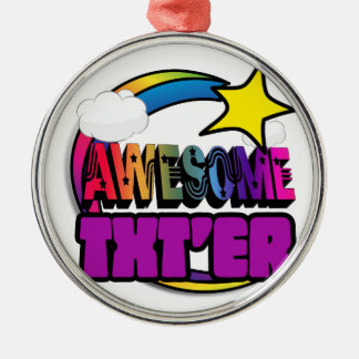 Shooting Star Rainbow Awesome Txter Ornament
