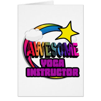 Shooting Star Rainbow Awesome Yoga Instructor Cards