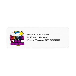 Shooting Star Rainbow Awesome Yoga Instructor Custom Return Address Labels