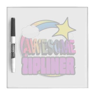 Shooting Star Rainbow Awesome Zipliner Dry Erase Whiteboard