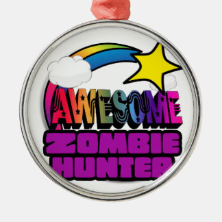Shooting Star Rainbow Awesome Zombie Hunter Ornament