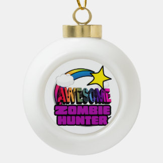 Shooting Star Rainbow Awesome Zombie Hunter Ornaments