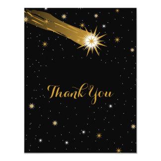 Shooting Star Romantic Thank You Card