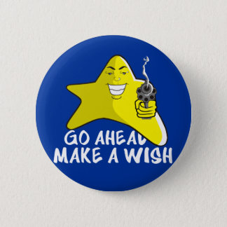 SHOOTING STAR T SHIRT 2 INCH ROUND BUTTON