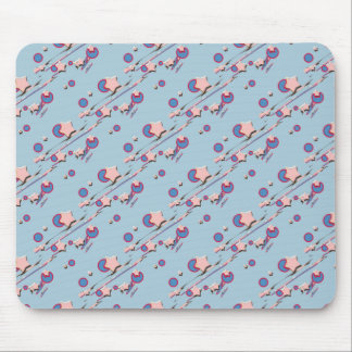 Shooting Stars and Comets Light Blue Mouse Pad