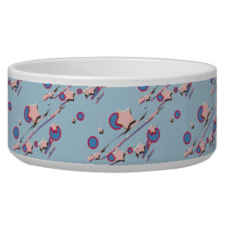 Shooting Stars and Comets Light Blue Pet Bowl