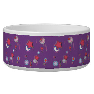 Shooting Stars and Comets Purple Pet Bowl