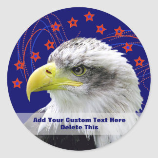 Shooting Stars And Eagle Stickers