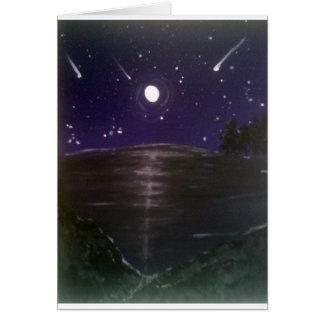 Shooting stars card