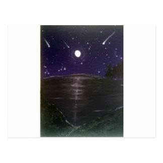 Shooting stars postcard