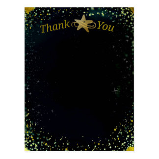 Shooting Stars Thank You Note Postcard