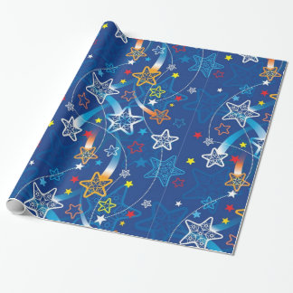 Shooting Stars Wrapping Paper