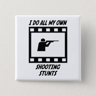 Shooting Stunts 2 Inch Square Button