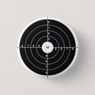 Shooting Target 1 Inch Round Button