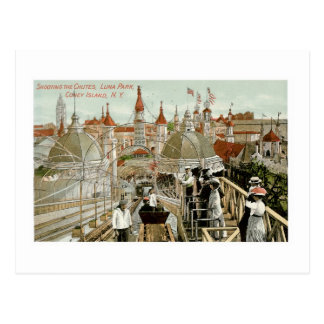 Shooting the Chutes, Luna Park, Coney Island Postcard