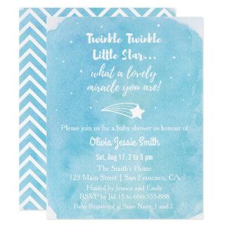 Shooting Twinkle Twinkle Little Star Baby Shower Card