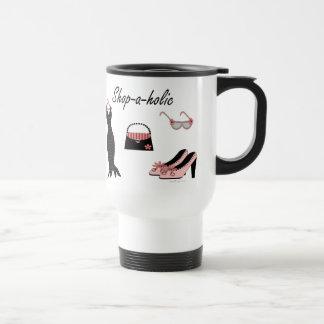 Shop-a-holic 15 Oz Stainless Steel Travel Mug