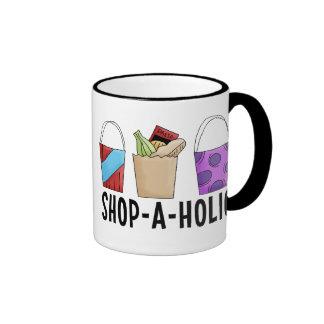 Shop-A-Holic Ringer Mug