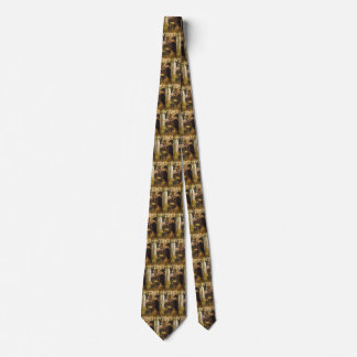 Shop Girl by Tissot,Vintage Victorian Fine Art Tie