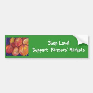 Shop Local Support  Farmers' Market Bumper Sticker