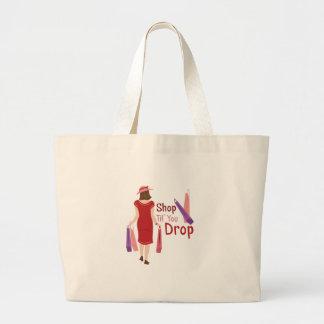 Shop Til Drop Large Tote Bag