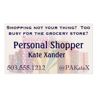 Shop Til You Drop Business Card