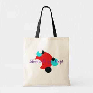 Shop till you drop! tote bag