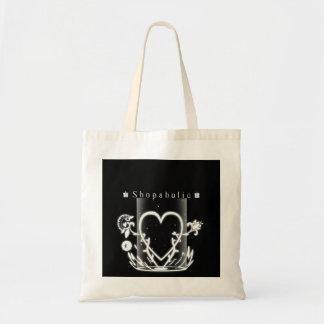 Shopaholic design tote bag