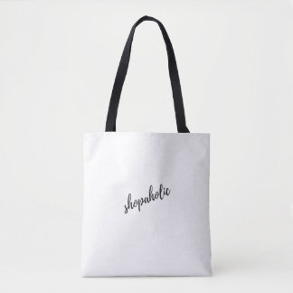 """Shopaholic"" funny everyday Bag"