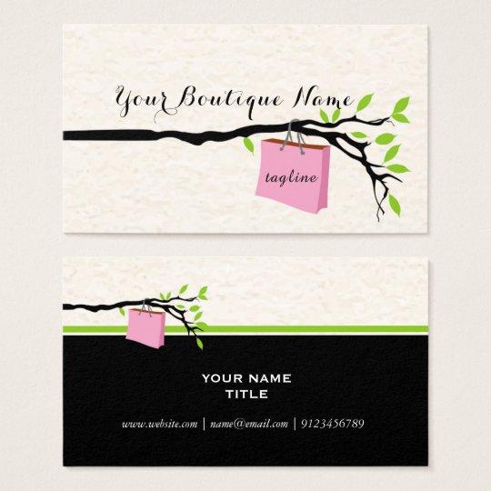 shopping bag, boutique l business card design