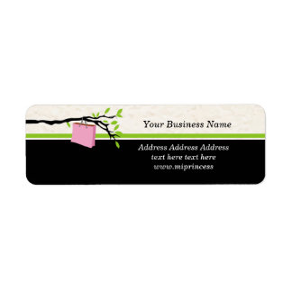 shopping bag, boutique Return Address Labels