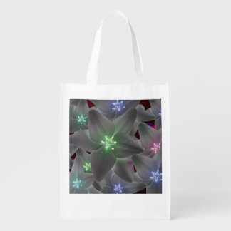 Shopping bag multicolored flower lilies