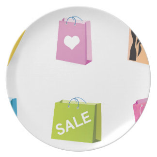 SHOPPING BAGS PLATE