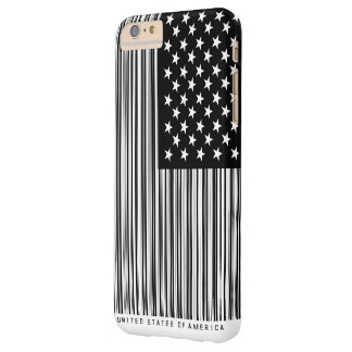 Shopping Bar Code US America Flag Barely There iPhone 6 Plus Case
