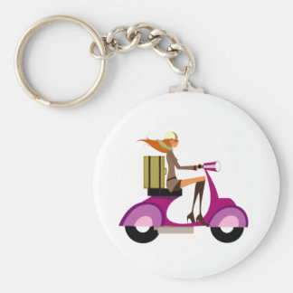 Shopping By Scooter Keychain