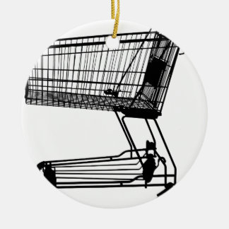 Shopping Cart Ceramic Ornament