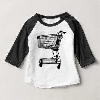 Shopping Cart Silhouette Baby T-Shirt