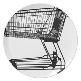 Shopping Cart Silhouette Plate