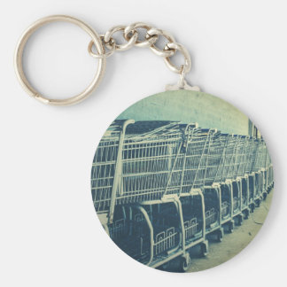 Shopping Carts Photograph Key Chain