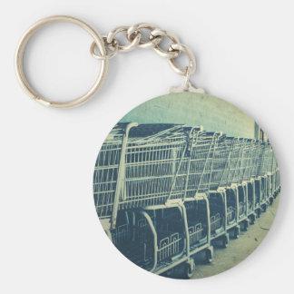 Shopping Carts Photograph Key Chain