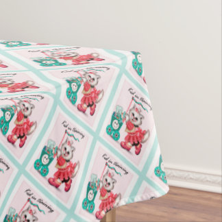"""SHOPPING CAT 2 Tablecloth COLOR LIPS 52""""x70"""""""