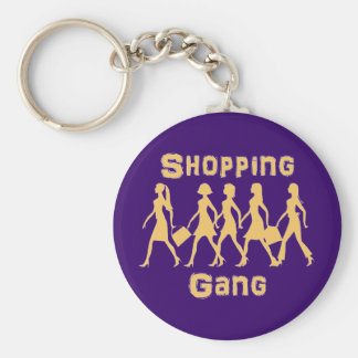 shopping course basic round button keychain