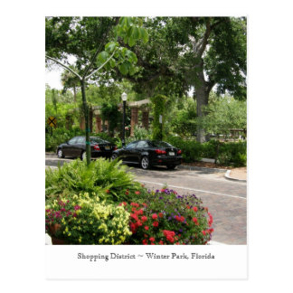 Shopping District ~ Winter Park, Florida Postcard