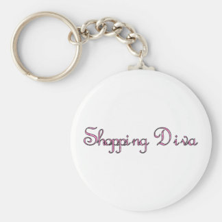 Shopping Diva Keychain