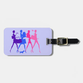 Shopping Divas Luggage Tag