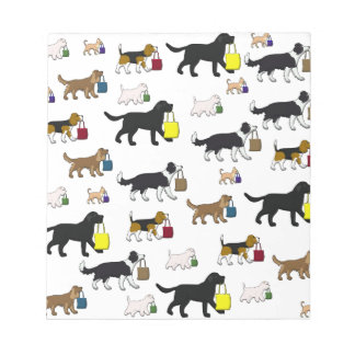 shopping dogs notepad