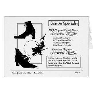 Shopping for end of season flying shoes card